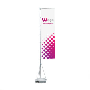 Outdoor Flag Model II (Rectangle Style) - Round Water Support Base