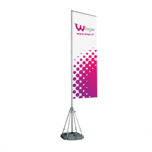 Outdoor Flag Model II (Rectangle Style) - Square Water Support Base