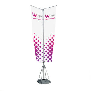 Outdoor Flag Model III (Triangle Style) - Square Water Support Base
