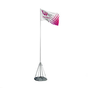 Outdoor Flag Model IV (Flag Style) - Square Water Support Base